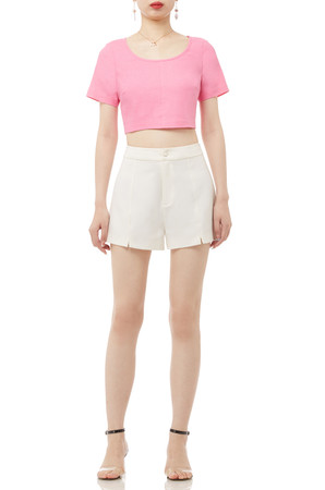 ROUND NECK CROP TOP BAN1912-0776