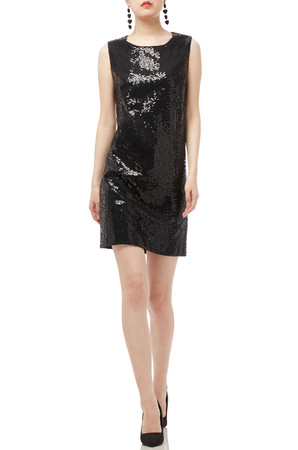 BOAT NECK SEQUINED DRESS PS1811-0165