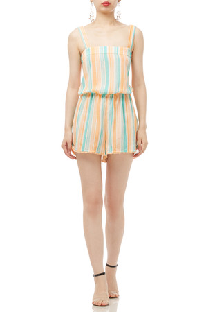 STRAP WITH CROSS AND TIE ON THE BACK ROMPER BAN1704-0061