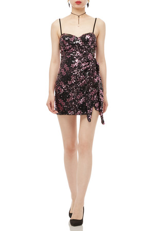 CAMISOLE SEQUINED DRESS BAN1909-0307