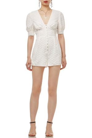 DEEP V-NECK BUTTON DOWN ROMPERS BAN2002-0107