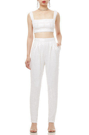 NORMAL WAISTED CROPPED PANTS BAN1910-0008