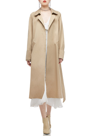 ONE BUTTON BELTED TRENCH COAT BAN2009-0524