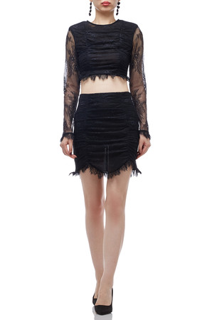 NORMAL WAISTED WITH ASYMETRICAL HEM SKIRT BAN2009-0221