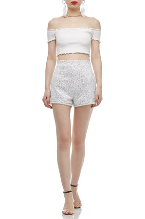NORMAL WAISTED SEQUINED SHORTS BAN2003-0955
