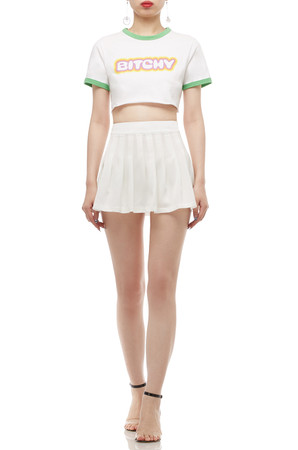 NORMAL WAISTED PLEATED SKIRT BAN2010-0525