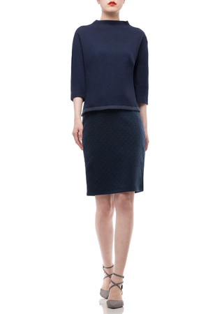NORMAL WAISTED ABOVE THE KNEE LENGTH SKIRT BAN1912-0147