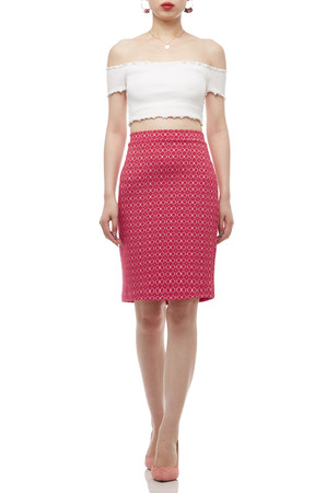 NORMAL WAISTED ABOVE THE KNEE SKIRT BAN2005-0395