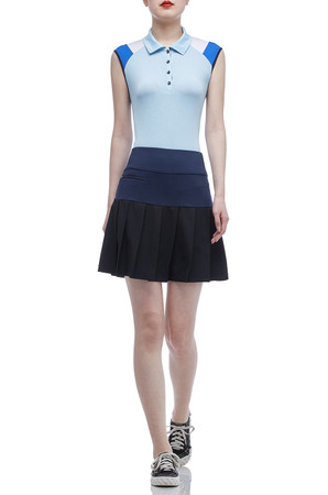 NORMAL WAISTED PLEATED SKORT BAN2003-0081
