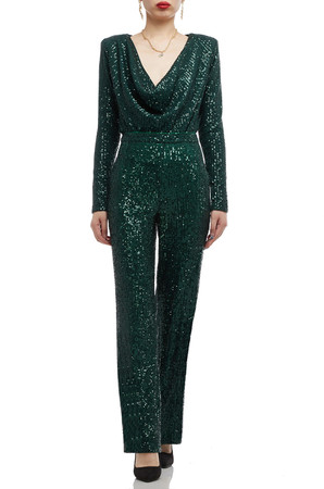 HIGH WAISTED SEQUINED PANTS BAN2008-0359