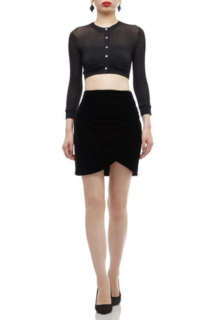 NORMAL WAISTED WITH ASYMETRICAL HEM SKIRT BAN2010-0318
