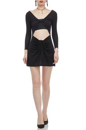 V-NECK A-LINE COVER-UP DRESS BAN2011-0224