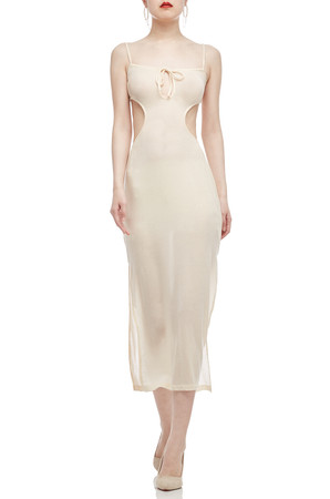 CAMISOLE WITH SLIT ON BOTH SIDE COVER-UP DRESS BAN2009-0361