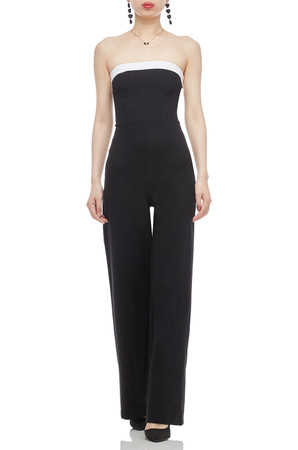 STRAPLESS WITH WIDE LEG JUMPSUIT BAN2011-0631