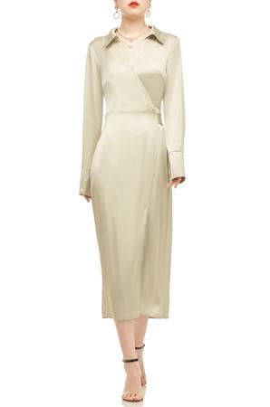 MID-CALF LENGTH WRAP DRESS BAN2011-0634