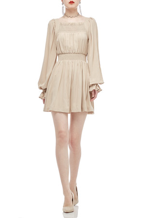 SQUARE NECK WITH PUFF SLEEVE DRESS BAN2011-0150