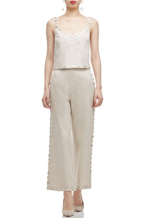 HIGH WAISTED ANKLE LENGTH PANTS BAN2011-0190