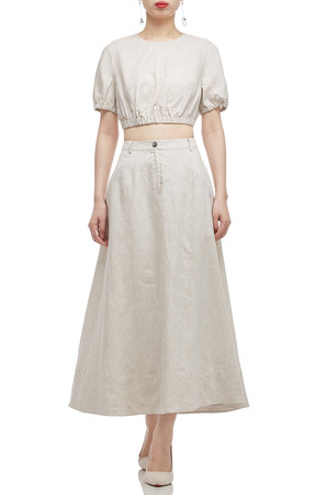 HIGH WAISTED ANKLE LENGTH SKIRT BAN2011-0320