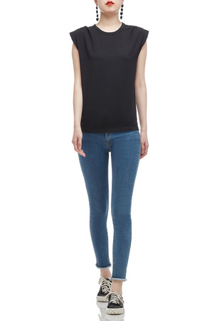 ROUND NECK WITH SHOULDER PAD TOP BAN2007-0299