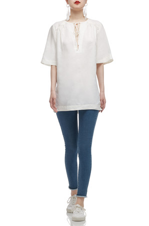 TIE FRONT WITH SLIT ON BOTH SIDE TOP BAN2101-0007