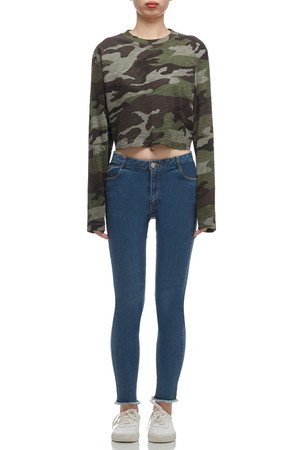 ROUND NECK CROPPED TOP BAN1912-0384
