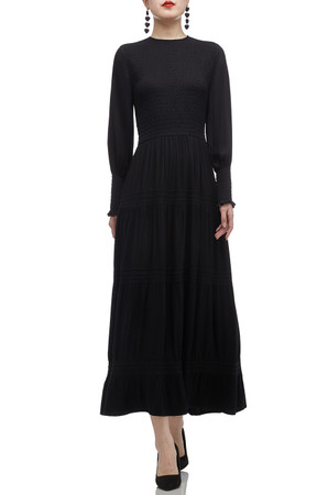 ROUND NECK ANKLE LENGTH DRESS BAN2011-0692