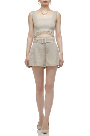 NORMAL WAISTED AND BELTED SHORT BAN2011-0554
