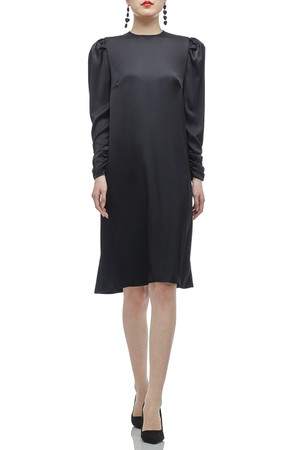 ROUND NECK WITH GIGOT SLEEVE A-LINE DRESS BAN2012-0219