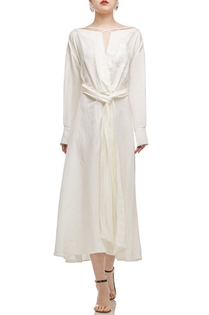 ANKLE LENGTH WITH COLD SHOULDER DRESS BAN2012-0389