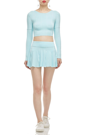 ROUND NECK CROPPED TOP BAN2101-0204