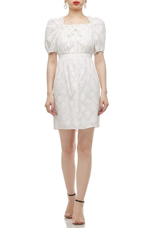 SQUARE NECK WITH SMOCK WAIST A-LINE DRESS BAN2011-0439