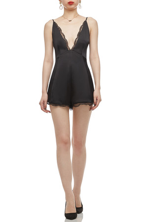 DEEP V-NECK WITH TIE ON THE SHOULDER AND BACK ROMPERS BAN2103-0166