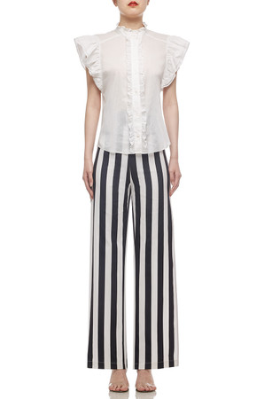 HIGH WAISTED WITH SLIT ON BOTH SIDE PANTS BAN2101-0524