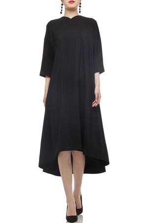 V-NECK MID-CALF DRESS BAN2012-0473