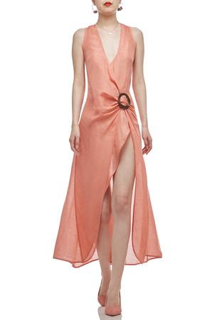 ASYMETRICAL HEM STRAP DRESS BAN2101-0344
