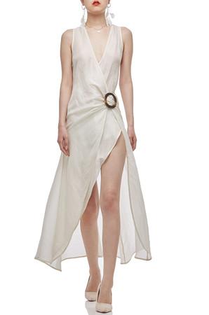 ASYMETRICAL HEM STRAP DRESS BAN2101-0344-W