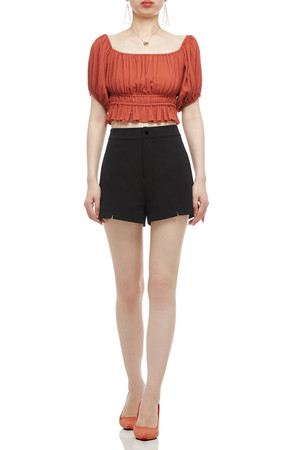 SQUARE NECK CROPPED TOP BAN2011-0181