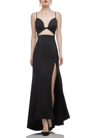 CAMISOLE WITH SLIT ASIDE FLOOR LENGTH DRESS BAN2012-0666