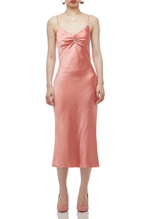 CAMISOLE WITH CROSS AND TIE ON THE BACK A-LINE DRESS BAN2011-0275