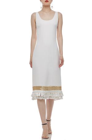 OVAL NECK SHEATH TANK DRESS BAN2101-0443