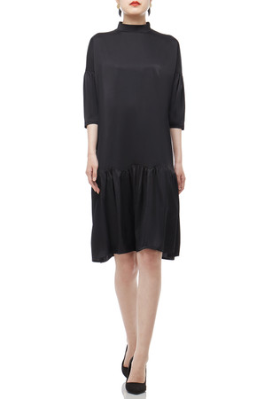 HIGH NECK KNEE-LENGTH DRESS BAN2012-0468