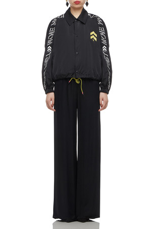 HIGH WAISTED WITH DRAWSTRING ANKLE LENGTH PANTS BAN2010-0438