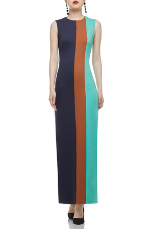 ROUND NECK WITH SLIT ON BOTH SIDE ANKLE LENGTH DRESS BAN2003-0966