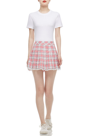 LOW WAISTED PLEATED SKIRT BAN2101-0369