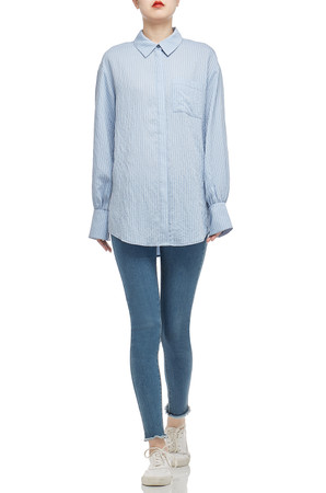 BUTTON DOWN WITH BREAST POCKET SHIRT TOP BAN2101-0483