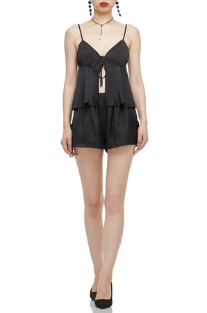 NORMAL WAISTED WITH TIE ON BOTH SIDE SHORTS BAN2101-0137