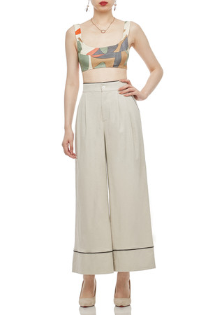 HIGH WAISTED CROPPED PANTS BAN2004-0145