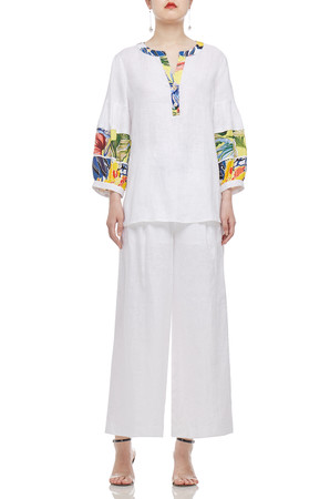 HIGH WAISTED ANKLE LENGTH AND BELTED PANTS BAN2102-0049
