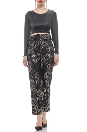 HIGH WAISTED AND BELTED PANTS BAN1907-0557