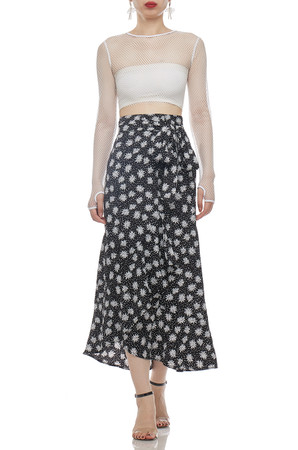 ROUND NECK CROPPED SEE THROUGH TOP BAN2101-0625